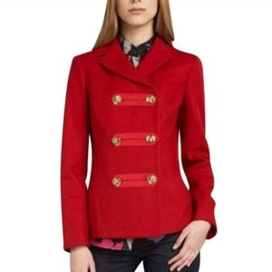Tory burch size 4 wool double breasted coat